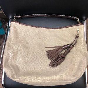 Michael kors canvas shoulder bag